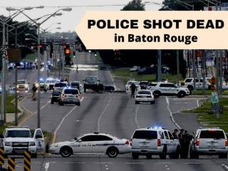 Police shot dead in Baton Rouge