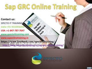 SAP GRC online training | SAP GRC 10.0 fastrack online training classes