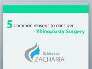 5 common reasons to consider rhinoplasty surgery
