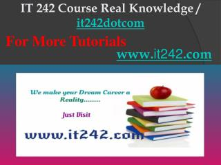 IT 242 Course Real Knowledge / it242dotcom