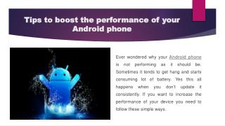 Tips to boost the performance of your Android phone