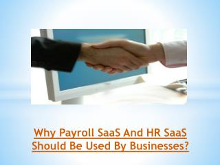 Why Payroll SaaS And HR SaaS Should Be Used By Businesses?