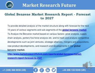 Global Benzene Market Research Report - Forecast to 2027