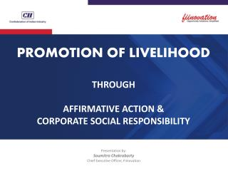 Fiinovation webinar on affirmative action and livelihood