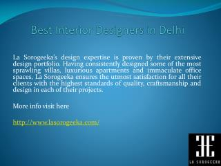 Best Interior Designers in Delhi