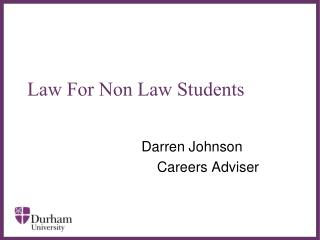 Law For Non Law Students