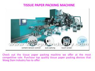 Tissue paper packing machine