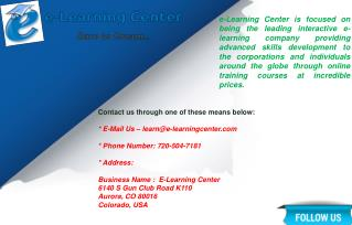 E-Learning Center Free  Online Courses
