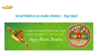 Send Rakhis to India Online