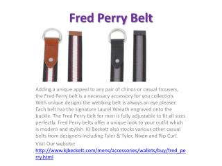 Fred Perry Belt