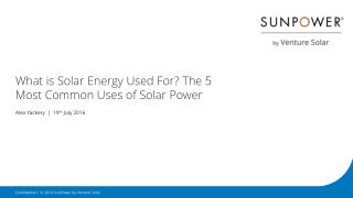 What is Solar Energy Used for? The 5 Most Common Uses of Solar Power