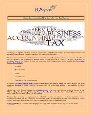 Accounting Services Firms Australia