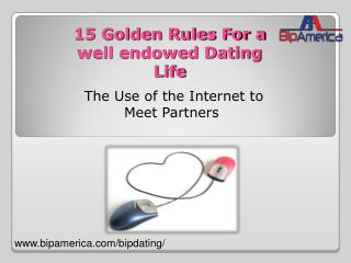 15 Golden tips for Online Dating