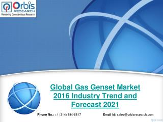 2016 Global Gas Genset Production, Supply, Sales and Demand Market Research Report