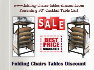"www.folding-chairs-tables-discount.com Presenting 30"" Cocktail Table Cart"