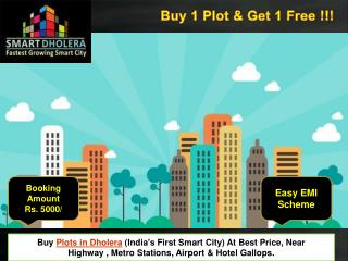 Buy plots in Dholera smart city,Gujarat