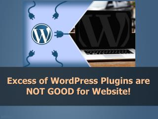 Excess of WordPress Plugins are NOT GOOD for Website!