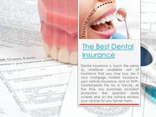 Dental Insurance Comparison