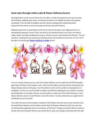 Send cake through online cake & flower Delivery Service