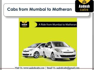 Cabs from Mumbai to Matheran | Taxi from Mumbai to Matheran | Aadesh Cabs