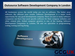 Outsource Software Development Company in London