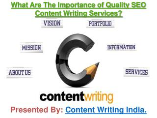 What Are The Importance of Quality SEO Content Writing Services?