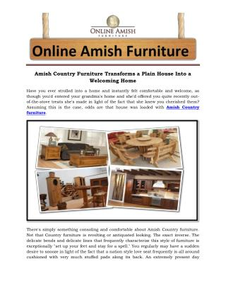 Amish Country Furniture Transforms a Plain House Into a Welcoming Home