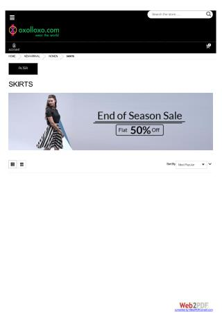 Women Skirts - End of Season Sale Flat 50% off