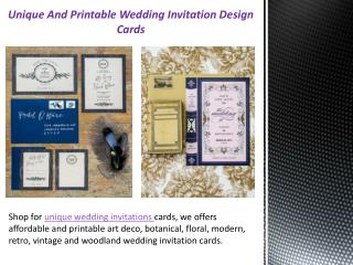 Unique And Printable Wedding Invitation Design Cards