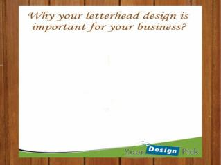 Important factors to consider while desgining letter-head