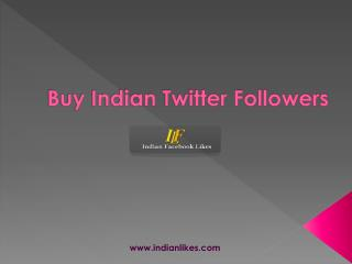 Get real Indian Twitter followers
