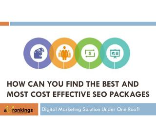 How Can You Find The Best SEO Packages