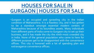 Houses For Sale in Gurgaon | Houses For Sale