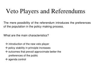 Veto Players and Referendums