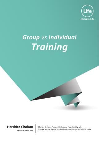 Developing Trait Skill Training