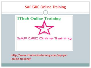 The Best SAP GRC Online Training | SAP GRC Tutorial.