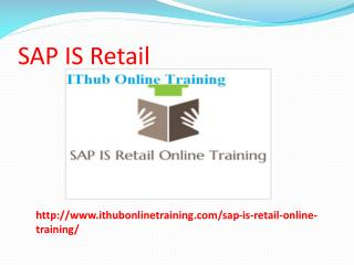 The Best SAP IS Retail Online Training | SAP IS Retail Tutorial.