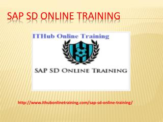 The Best SAP SD Online Training | SAP SD Online Tutorial.