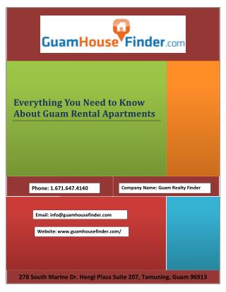 Everything You Need to Know About Guam Rental Apartments