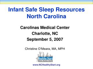 Infant Safe Sleep Resources North Carolina