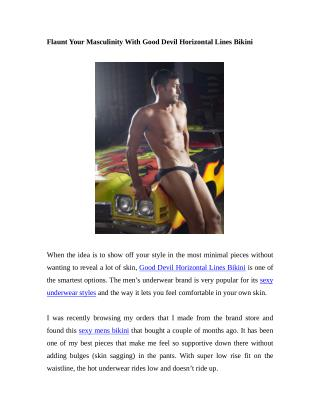 Flaunt Your Masculinity With Good Devil Horizontal Lines Bikini