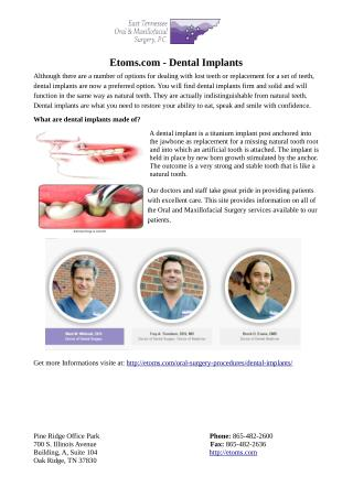 Dental Implants Oak Ridge TN
