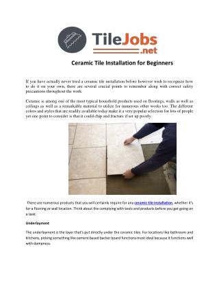 Ceramic Wall Tile Installation