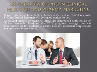 An Overview Of Phd In Clinical Research