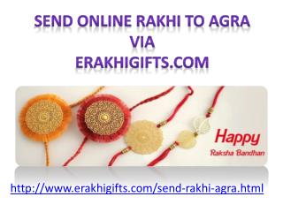 Send online rakhi to Agra