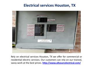 Local electricians Houston, TX