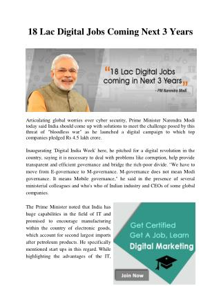 18 Lac Digital Jobs Coming Next 3 Years