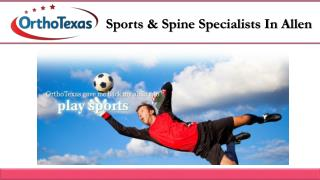 Sports & Spine Specialists In Allen