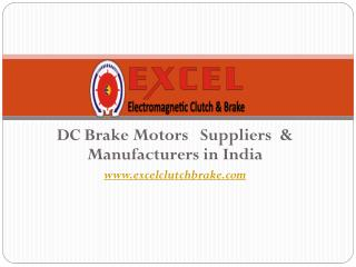 DC   Brake Motors   Suppliers  & Manufacturers in India