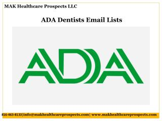 ADA Dentists Email Lists
